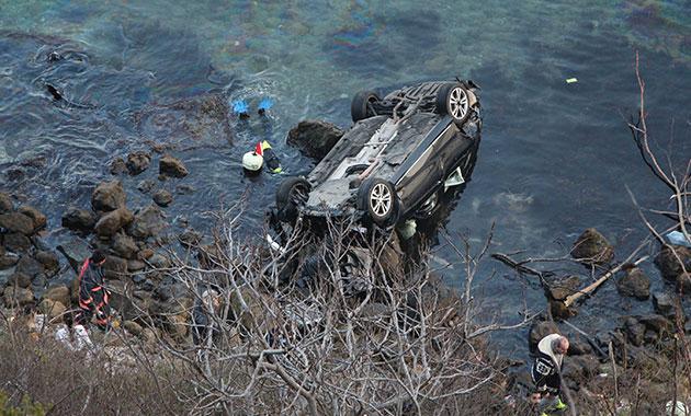 Sarıyer'de araç denize uçtu: 1ölü