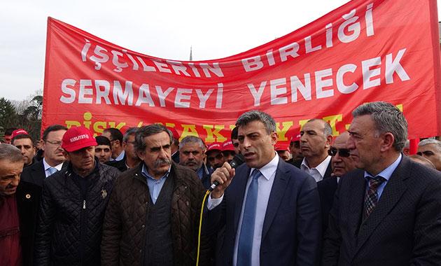 İBB önünde nakliyat işçilerden eylem