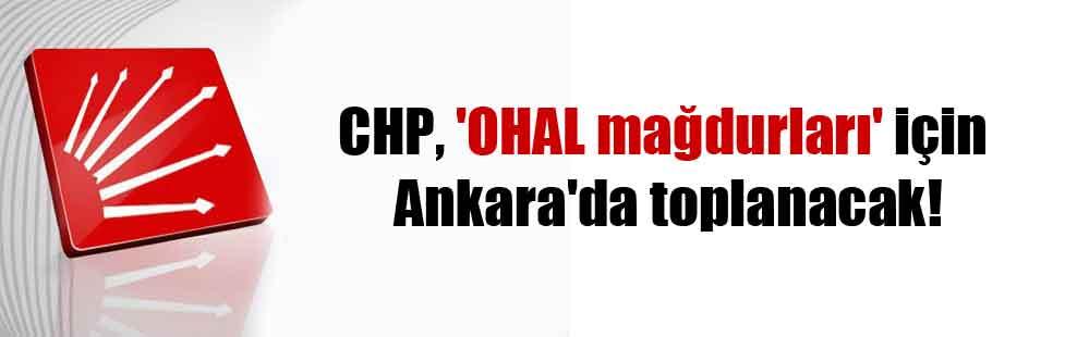 CHP, 'OHAL mağdurları' için Ankara'da toplanacak!