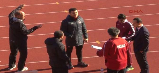 Beşiktaş'ta antrenman öncesi Katarlı atletlerle gerginlik