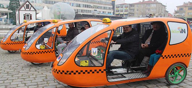 Bisikletli taksilere yoğun ilgi