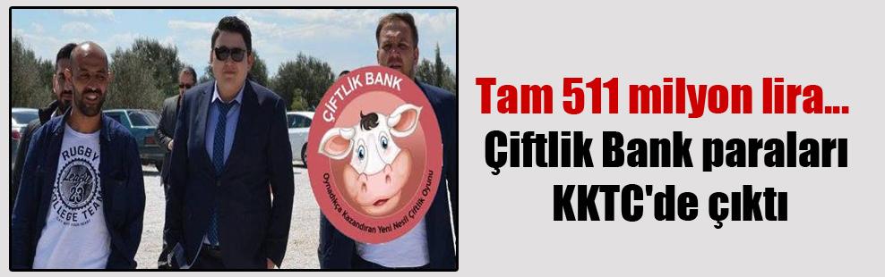 Tam 511 milyon lira… Çiftlik Bank paraları KKTC'de çıktı