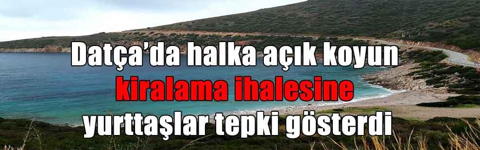 Datça'da halka açık koyun kiralama ihalesine yurttaşlar tepki gösterdi