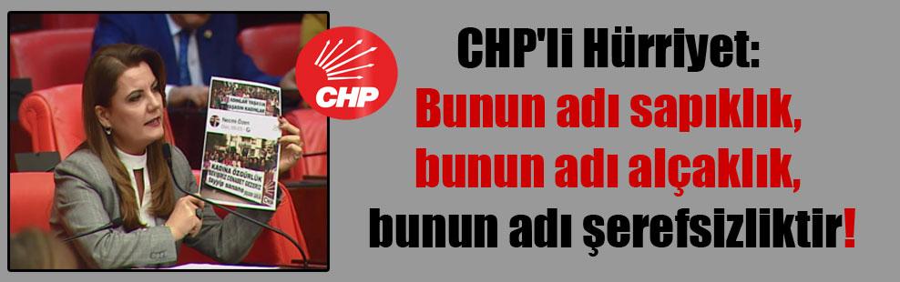 CHP'li Hürriyet: Bunun adı sapıklık, bunun adı alçaklık, bunun adı şerefsizliktir!
