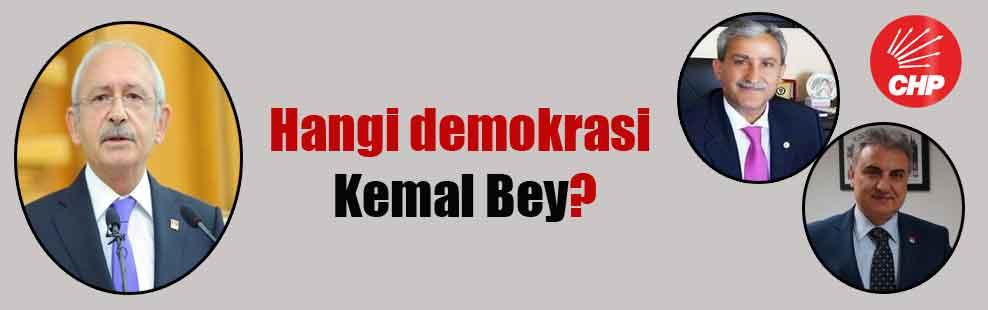 Hangi demokrasi Kemal Bey?