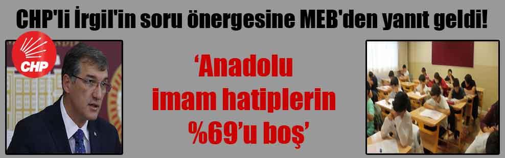 CHP'li İrgil'in soru önergesine MEB'den yanıt geldi!