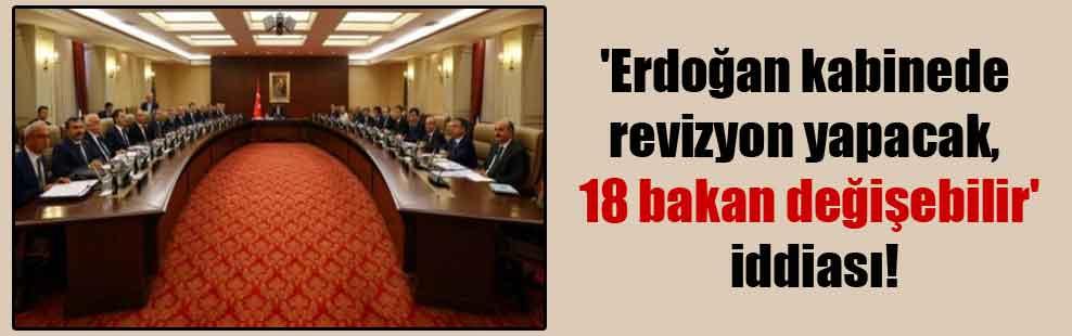 'Erdoğan kabinede revizyon yapacak, 18 bakan değişebilir' iddiası!