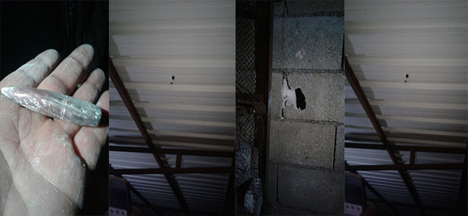 Afrin'den ateşlenen uçaksavar mermileri, Kilis'teki evlere isabet etti