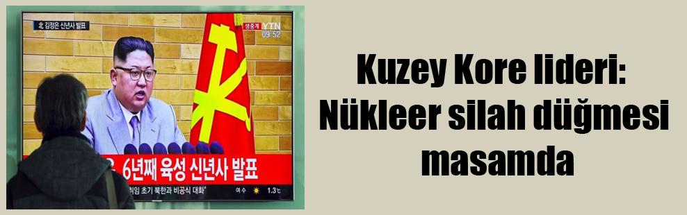 Kuzey Kore lideri: Nükleer silah düğmesi masamda