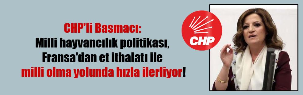 CHP'li Basmacı: Milli hayvancılık politikası, Fransa'dan et ithalatı ile milli olma yolunda hızla ilerliyor!