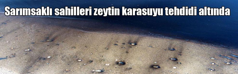 Sarımsaklı sahilleri zeytin karasuyu tehdidi altında