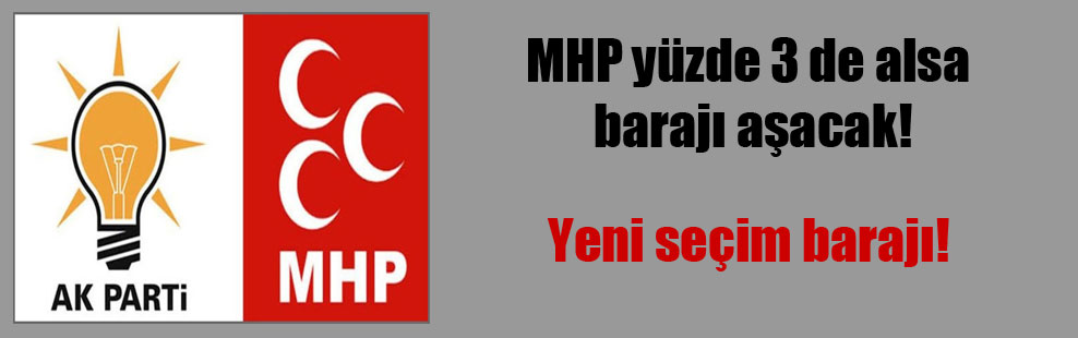 MHP yüzde 3 de alsa barajı aşacak!