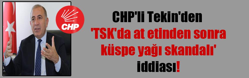 CHP'li Tekin'den 'TSK'da at etinden sonra küspe yağı skandalı' iddiası!