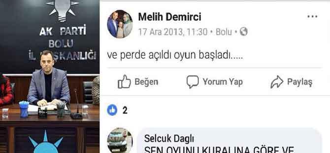 AKP il başkan vekilinin 17 Aralık paylaşımına tepki