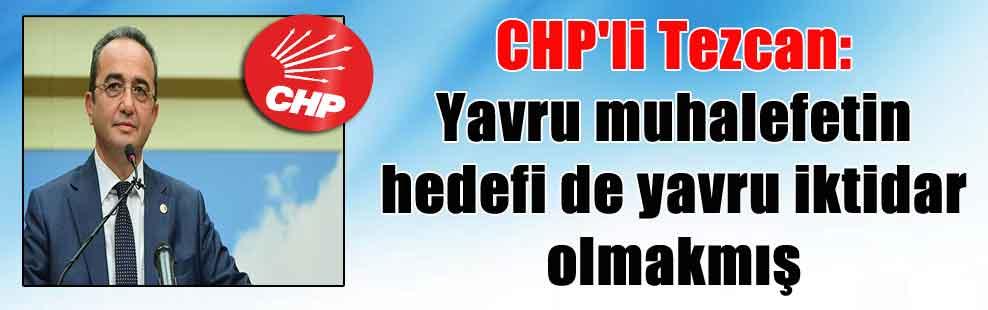 CHP'li Tezcan: Yavru muhalefetin hedefi de yavru iktidar olmakmış
