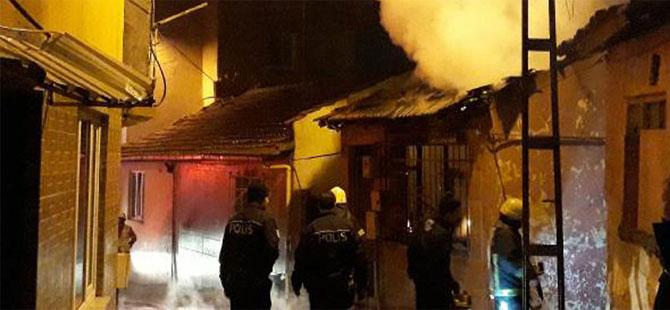 Bursa'da tüp bomba gibi patladı