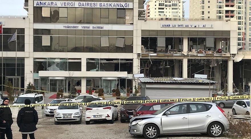 Ankara'da vergi dairesindeki patlamayla ilgili Suriyeli kadına gözaltı