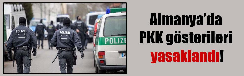Almanya'da PKK gösterileri yasaklandı!