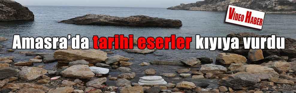 Amasra'da tarihi eserler kıyıya vurdu
