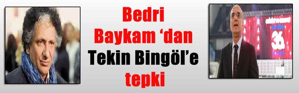 Bedri Baykam 'dan Tekin Bingöl'е tepki