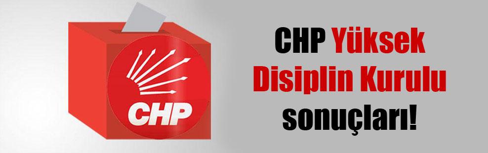 CHP Yüksek Disiplin Kurulu sonuçları!