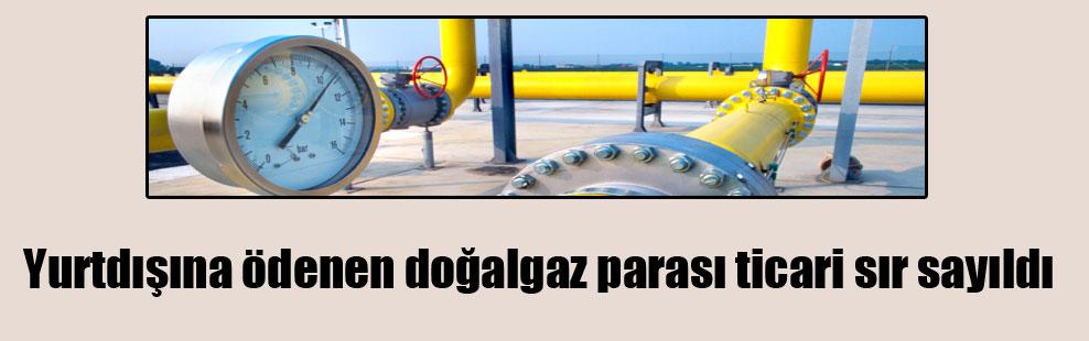 Yurtdışına ödenen doğalgaz parası ticari sır sayıldı