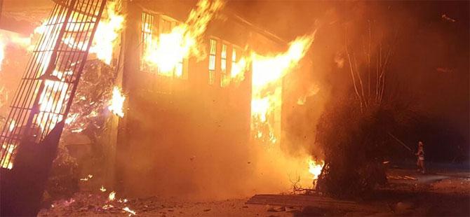 Fabrikada yangın çıktı: 4 yaralı
