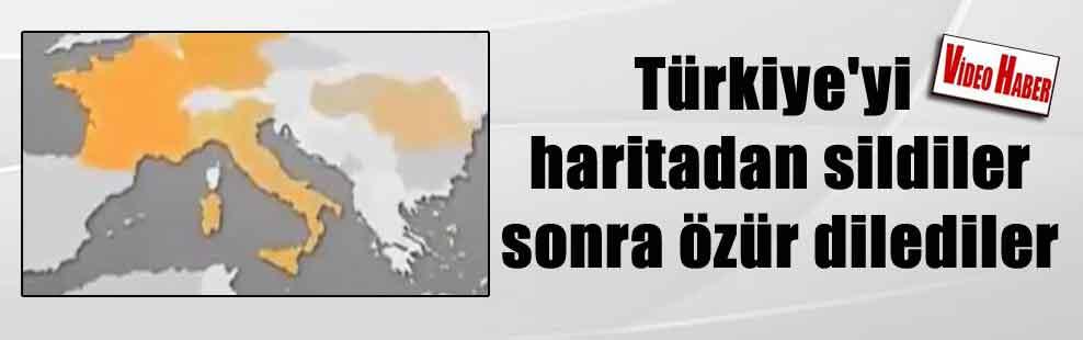 Türkiye'yi haritadan sildiler sonra özür dilediler