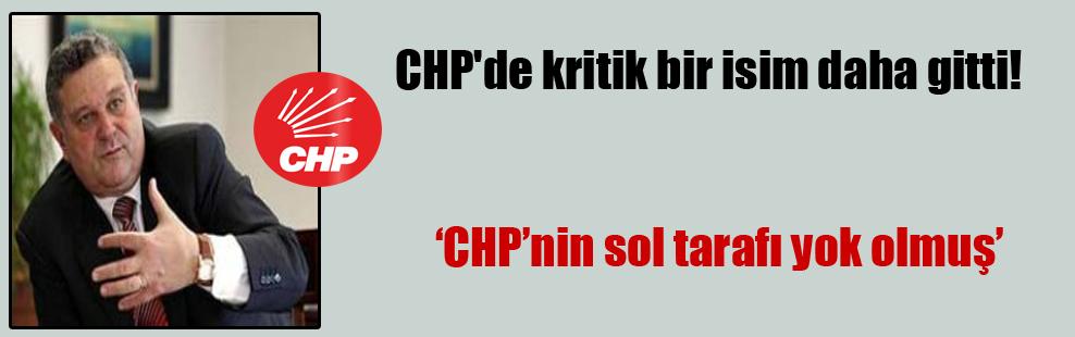 CHP'de kritik bir isim daha gitti!