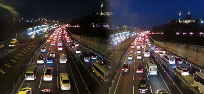 İstanbul'da 'ikinci yarıyıl' trafiği