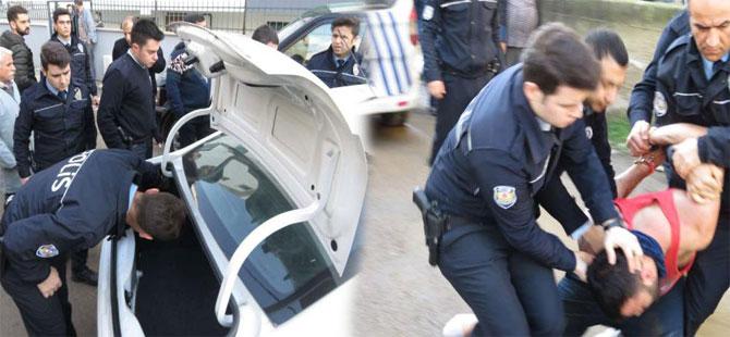 Maltepe'de polisten kaçan şüpheli ortalığı birbirine kattı