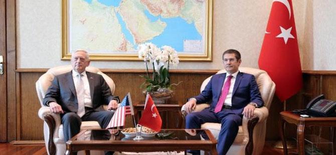 ABD Savunma Bakanı Mattis'ten Türk mevkidaşı Canikli'ye: IŞİD'e odaklanılsın