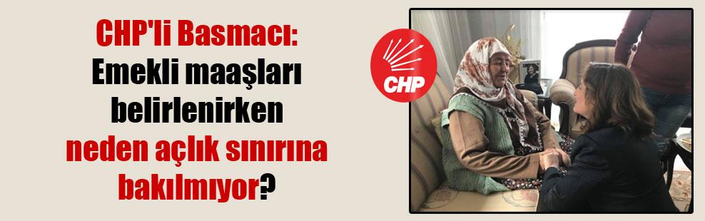 CHP'li Basmacı: Emekli maaşları belirlenirken neden açlık sınırına bakılmıyor?
