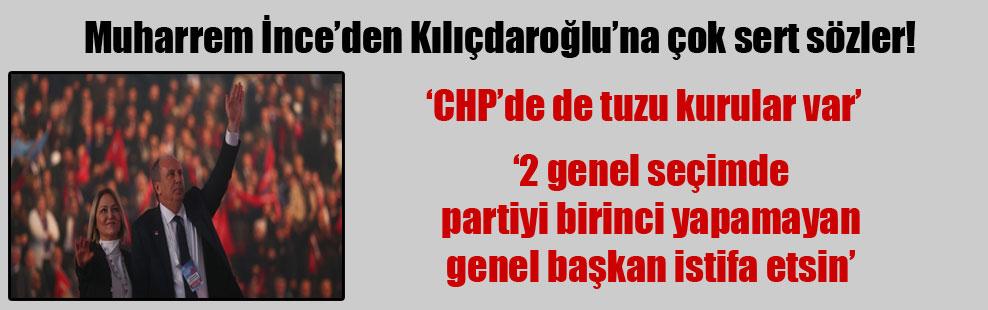 Muharrem İnce'den Kılıçdaroğlu'na çok sert sözler!