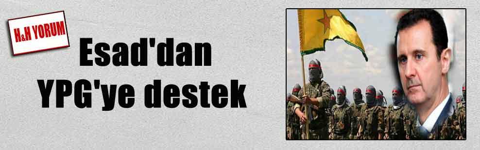 Esad'dan YPG'ye destek