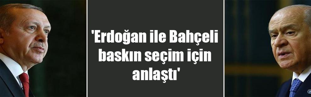 'Erdoğan ile Bahçeli baskın seçim için anlaştı'