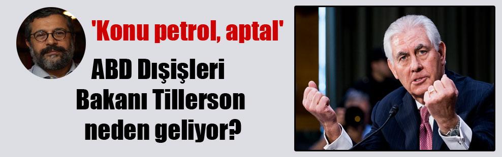 ABD Dışişleri Bakanı Tillerson neden geliyor? 'Konu petrol, aptal'