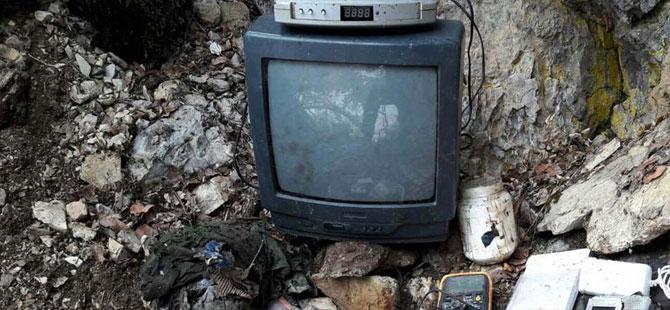 PKK'nın televizyonlu sığınağı ele geçirildi