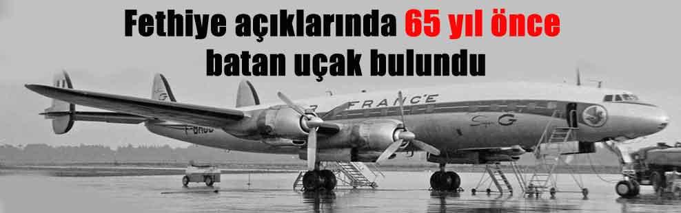 Fethiye açıklarında 65 yıl önce batan uçak bulundu