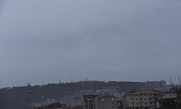 Sinop'ta füze test atışları yapıldı