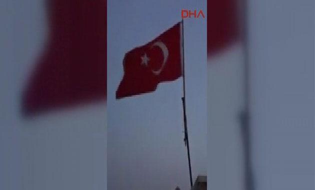 Cinderes'te Türk bayrağı dalgalanıyor