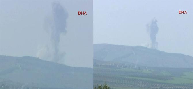 Afrin'deki YPG hedefleri Türk savaş uçakları tarafından vuruluyor