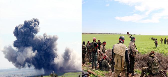 Afrin'in yanı başındaki köylerdeki terör hedeflerine bombardıman