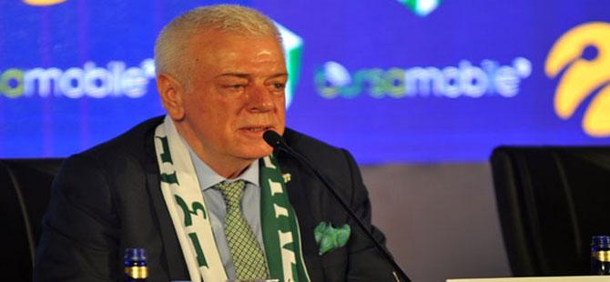 Bursaspor Başkanı Ali Ay: Finansal açıdan acı reçeteler gelecek