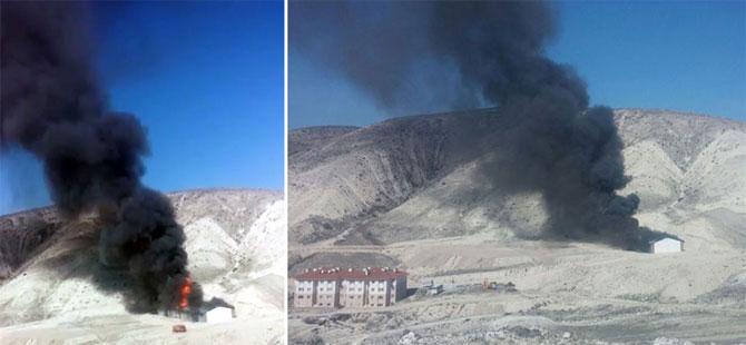 Ankara Beypazarı'nda tüp depolarında patlama
