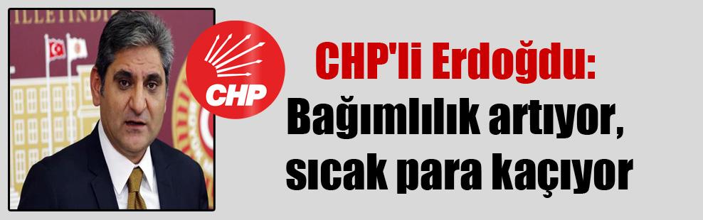 CHP'li Erdoğdu: Bağımlılık artıyor, sıcak para kaçıyor
