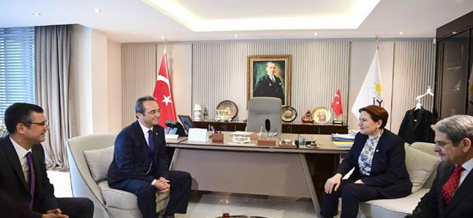 CHP heyeti İyi Parti Genel Merkezini ziyaret etti