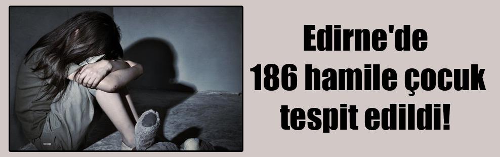 Edirne'de 186 hamile çocuk tespit edildi!