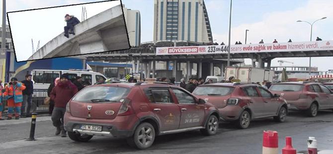 Hadımköy'de intihar girişimi
