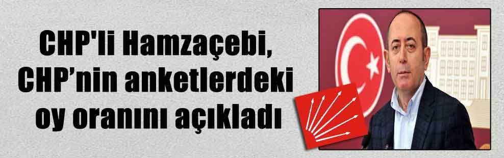CHP'li Hamzaçebi, CHP'nin anketlerdeki oy oranını açıkladı